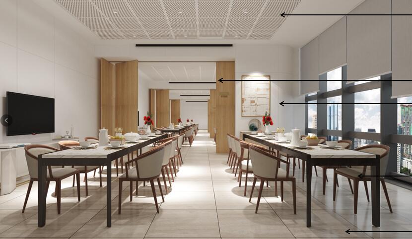 自助食堂桌椅方案