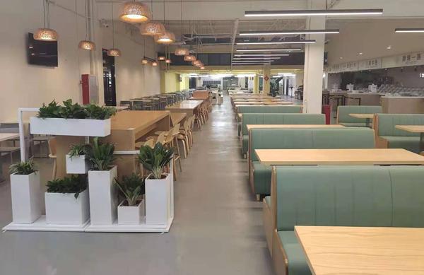 科能汇创园员工食堂桌椅,科技园员工食堂桌椅达芬家具配套桌椅成功方案