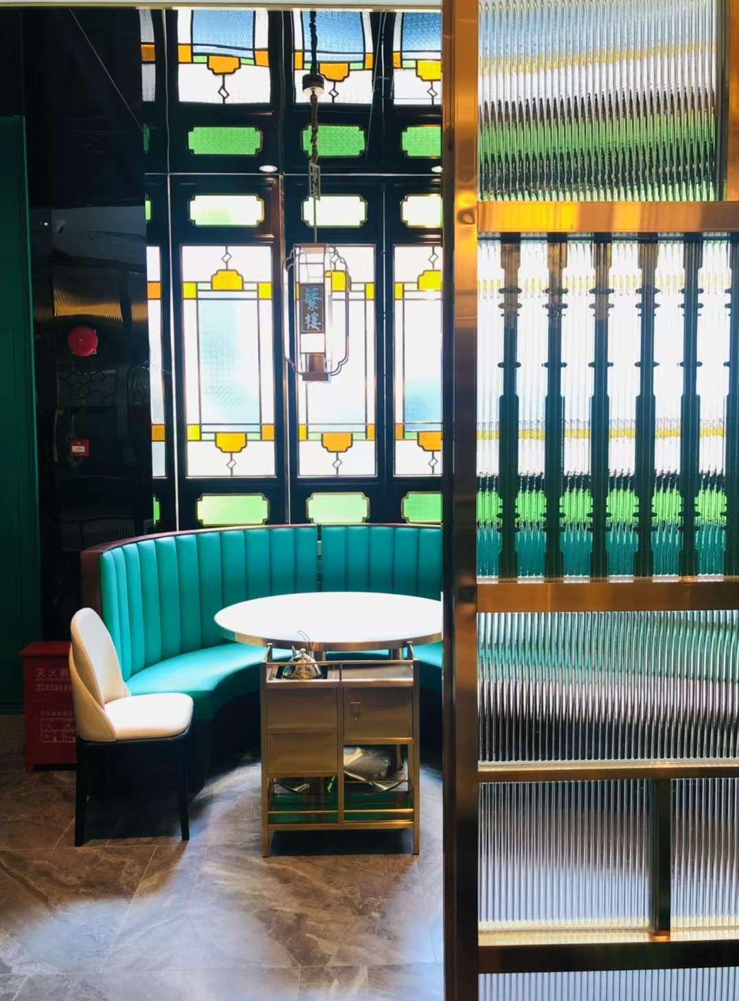 茶楼卡座沙发,港式茶楼沙发卡座-达芬家具定制