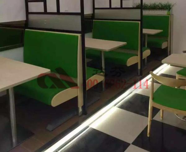 绿茶甜水店卡座沙发