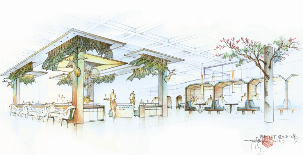 广工食堂鹿其林酒家设计方案