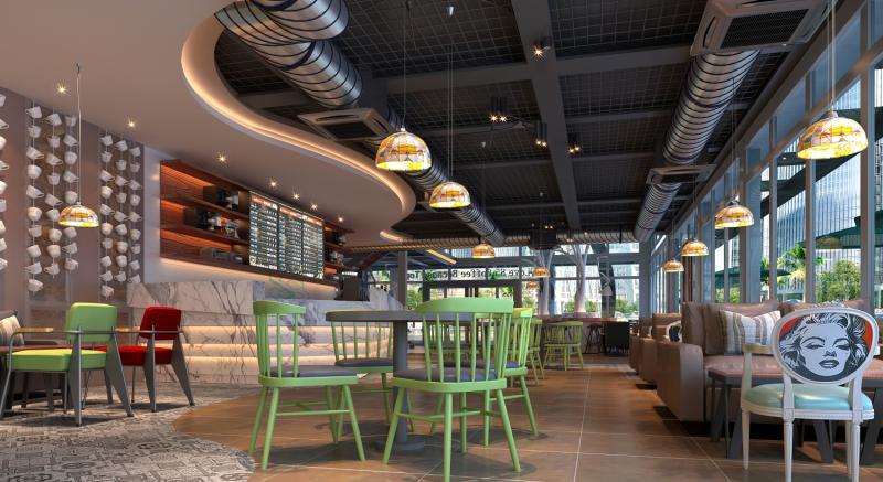 中国式自助.西餐厅桌椅