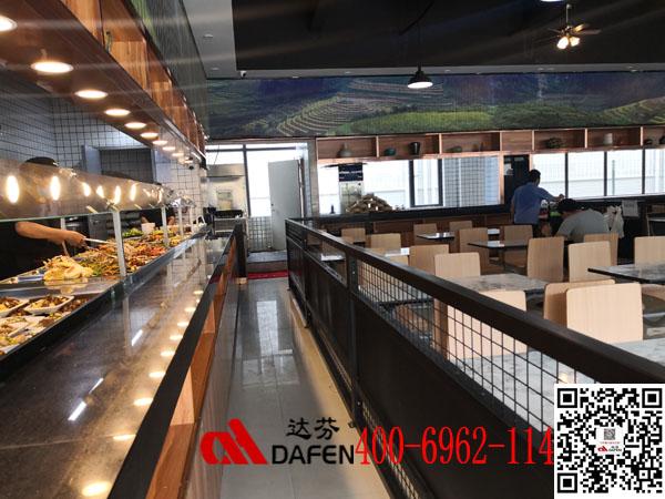 美味源餐厅桌椅-顺丰物流园食堂桌椅