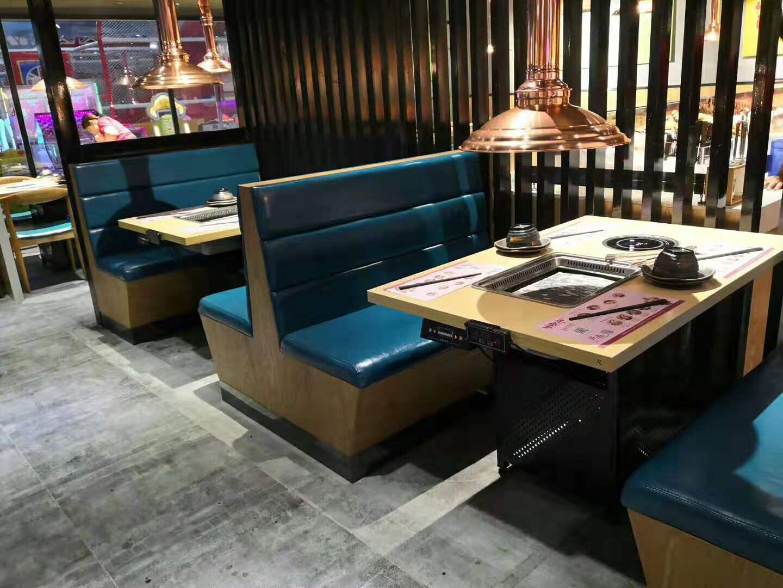 韩国风格的烤肉火锅桌椅