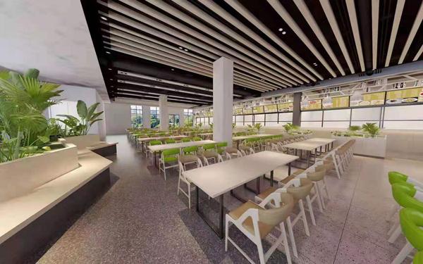 科技园员工食堂桌椅方案