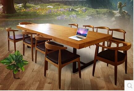 实木桌椅组合ZH001