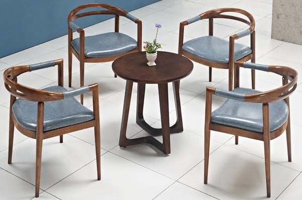 df017-509实木桌椅,西餐圆桌椅,茶餐厅圆桌椅,休闲圆