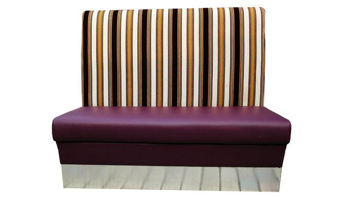 必胜客条纹软包沙发