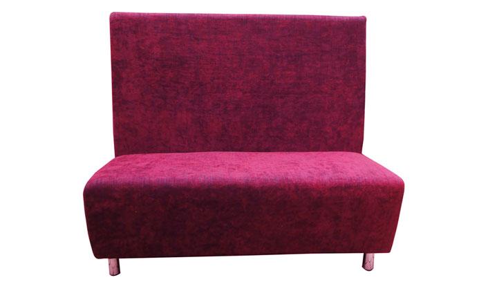 布艺单边卡座沙发