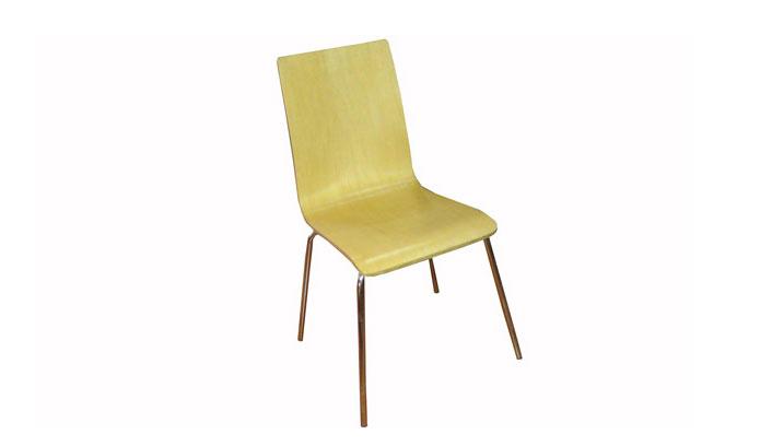 四脚曲木弯板椅