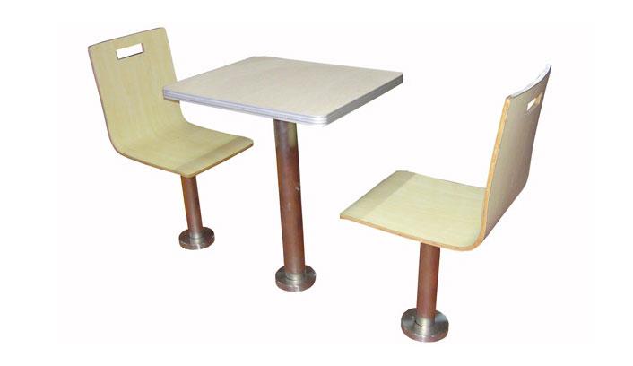 肯德基固定脚弯板椅桌椅