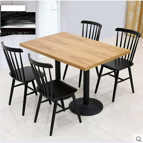 实木板餐桌椅