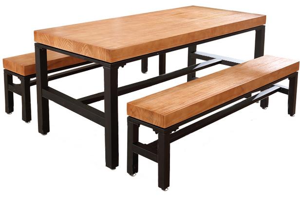 DF017-523卡座实木板凳桌椅