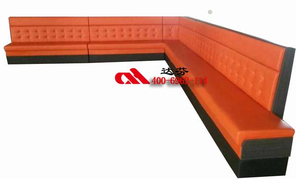 D靠墙转角卡座沙发2021-D04